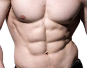 עיצוב שרירים ריבועים בבטן